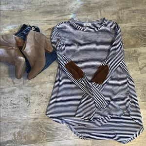 Long sleeve patch top